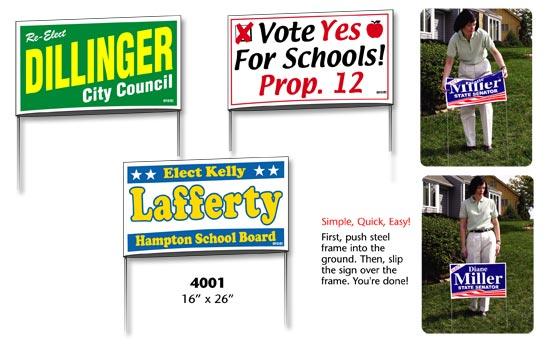 Yard Signs - Plastic Yard Signs, Real Estate Yard Signs, Corrugated ...